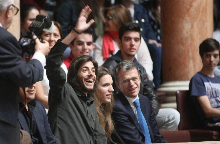 Salvador Sobral na Assembleia da republica
