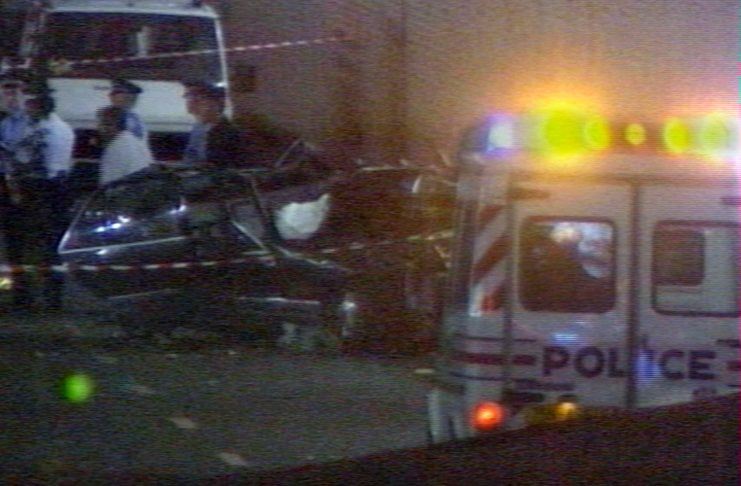 DIANA CAR WRECK IN PARIS TUNNEL