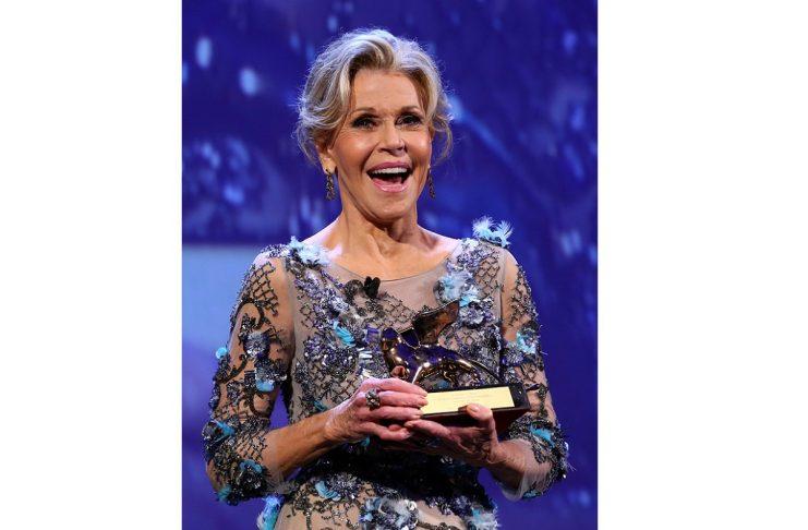 Actor Fonda receives a Golden Lion award for lifetime achievement at the 74th Venice Film Festival in Venice