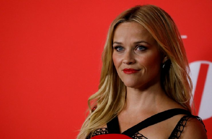 """Cast member Witherspoon poses at the premiere for """"Home Again"""" at Directors Guild of America in Los Angeles"""
