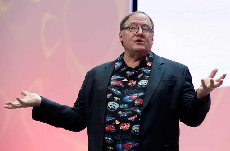 John Lasseter, Chief Creative Officer of Walt Disney and Pixar Animation Studios, speaks during the North American International Auto Show in Detroit, Michigan, U.S.