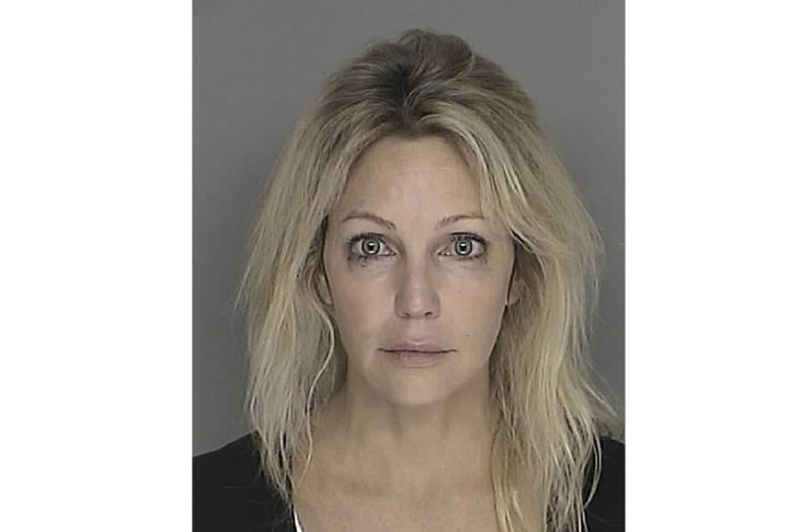 Actress Locklear is shown in this booking mug released by Santa Barbara County Sheriff's Department